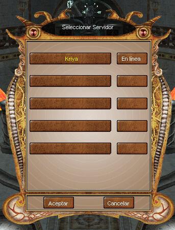 seleccionar servidor tantra online
